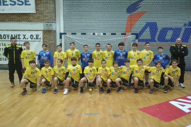 aek-handball-academy-academies-duke-pampaides-b-v-tropaio-kipello-omada-omadiki-team